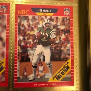 NFL 1989 JOE NAMATH PRO SET CARD  #25 HOF